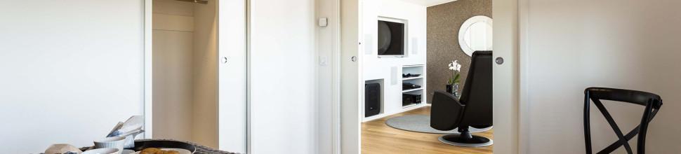 Eclisse Pocket Door - liu'uta liukuovi seinän sisään ja vapauta huoneistotilaa hyötykäyttöön.